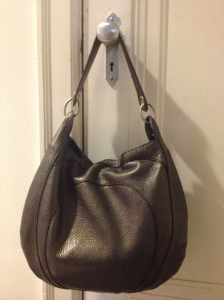 banana republic pebbled leather hobo