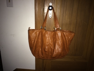 The other way to wear this gorgeous cognac bag.
